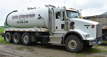 Dahle Enterprises' septic pumping truck | Septic Services